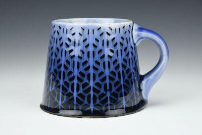 Deep Blue Trapezoids Mug