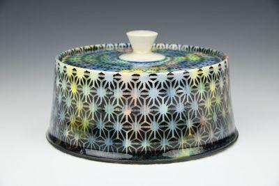 Rainbow Floral Jar