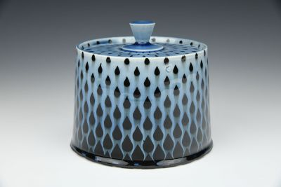 Blue Raindrops Jar