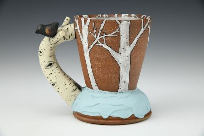 Winter Blackbird Mug