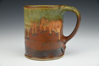 Red and Green Tankard