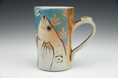 Fish Turquoise Coffee Cup