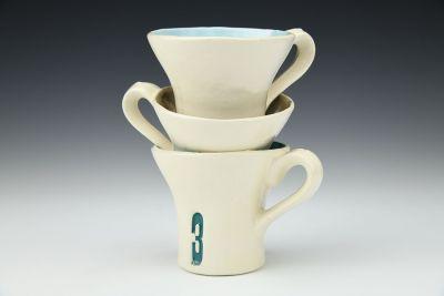 Triplet Triple Stacked Mug