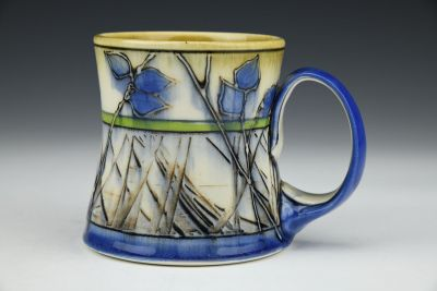 Blue Leaf Mug