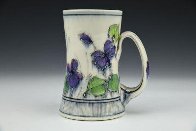 Violets Tall Mug