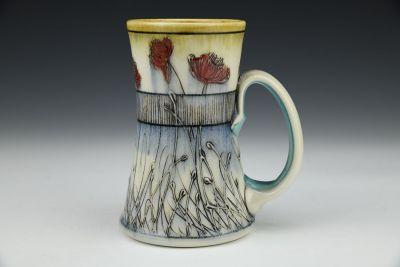 Banded Poppy Tall Mug