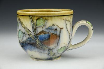 Bluebird Latte Cup