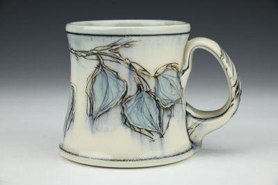 Aqua Leaves Mug