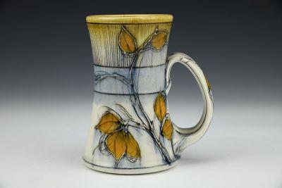 Orange Leaves Tall Mug