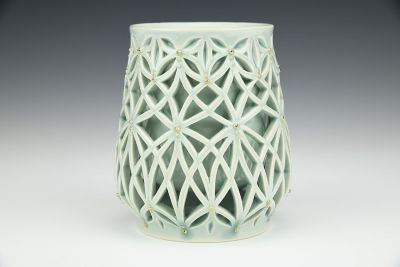 Celadon Double-Walled Cup with Gold