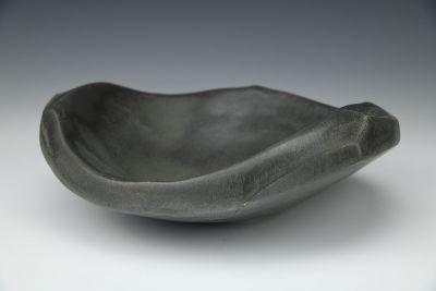 Brown/Black Sculptural Bowl