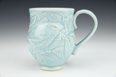 Bird Seeking Berries Mug