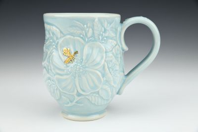 Golden Bee Botanical Mug