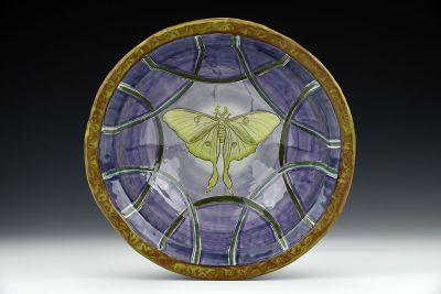 Large Luna Moth Bowl
