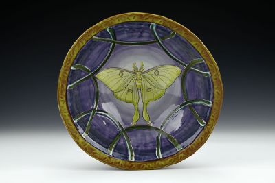 Medium Luna Moth Bowl