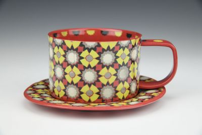 Coffee or Tea Cup and Saucer