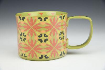 Green and Pink Mug
