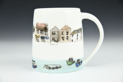 Boats and Houses Handmade Mug