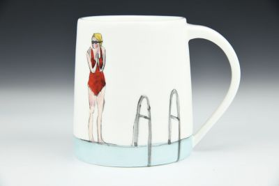 Morning Swim Handmade Mug