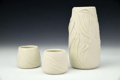 Weeping Willow Sake Set