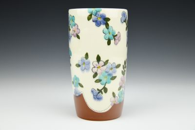 Pink, Purple, and Turquoise Tall Tumbler