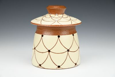 Carved Garlic Jar