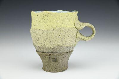 Large Yellow and Shale Gradient Mug