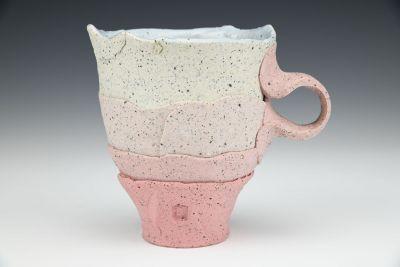 Large Pink and Shale Gradient Mug