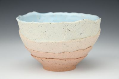 Pink and Shale Gradient Bowl
