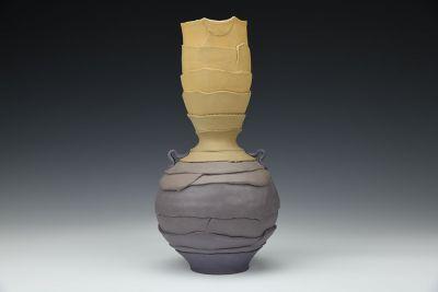 Purple and Amber Gradient Vase