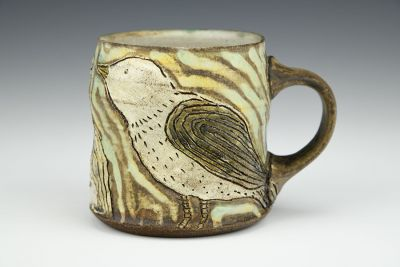 People and Bird Mug