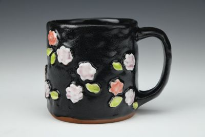 Red and Pink Floral Mug