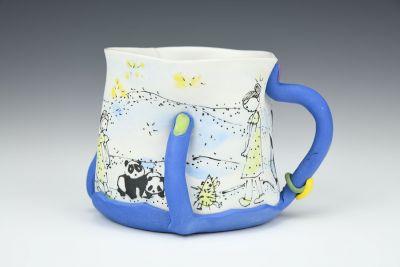 Blue Hand Mug