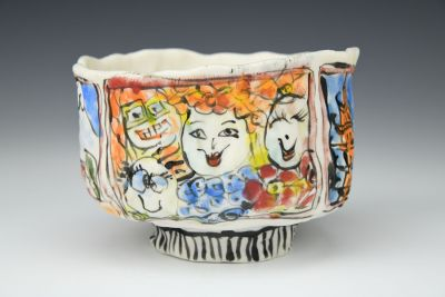 Going Places Footed Bowl