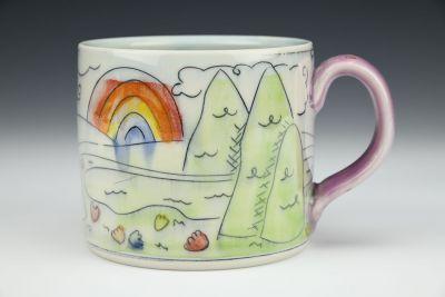 Mountains and Flowers Big Mug