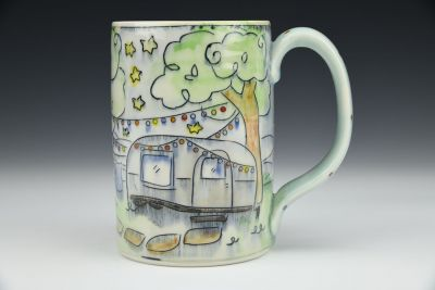 Airstream and Coffee Stein
