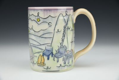 Camping and Coffee Stein