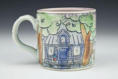 Cabin in the Forest Medium Mug
