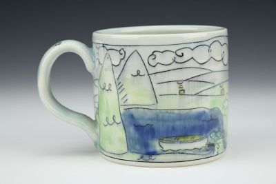 Lake House Medium Mug