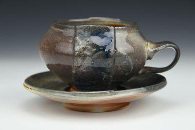Smoky Teacup and Saucer