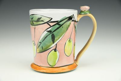 Tankard: Chartreuse Fruit on Pink