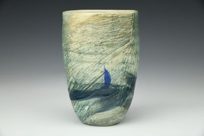 Riding the Waves Tall Cup