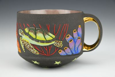 Seaturtle and Cuttlefish Cup