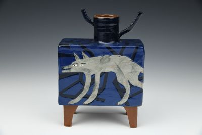 Wolf in the Woods Vessel