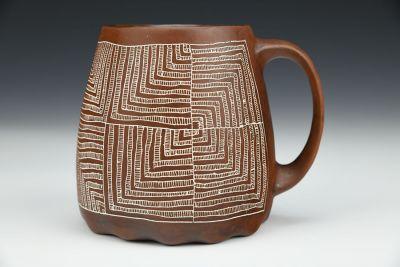 Half-Log Cabin Mug