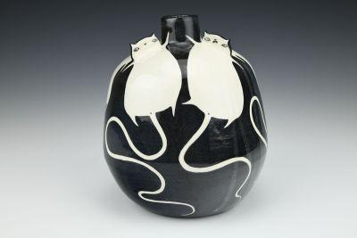 Fat White Cats Vase
