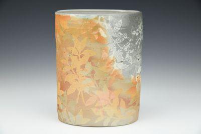 Coffee Plant Oval Vase