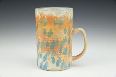 Raindrop Soda Fired Mug