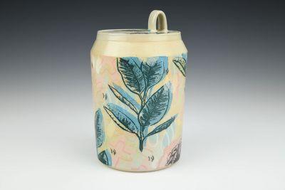 Cityscape Soda Fired Jar
