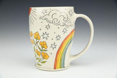 Mug with Flowers and the Sun